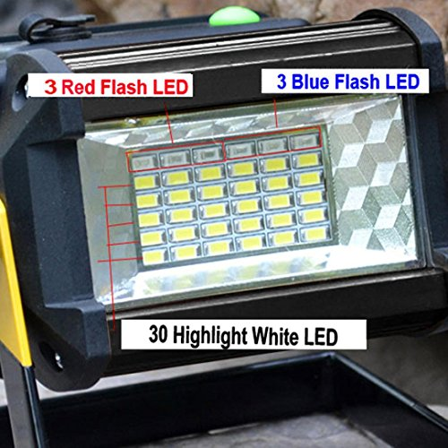 Led Flood Light, Napoo Portable 50W 36 LED Waterproof Rechargeable Worklight Spot Work Lamp Emergency Light For Outdoor Camping, Working, Fishing by Napoo (Image #3)