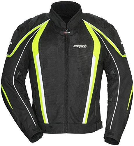 Cortech GX-Sport Air 4.0 Mens Black/Hi-Viz Yellow Mesh/Textile Jacket - X-Small