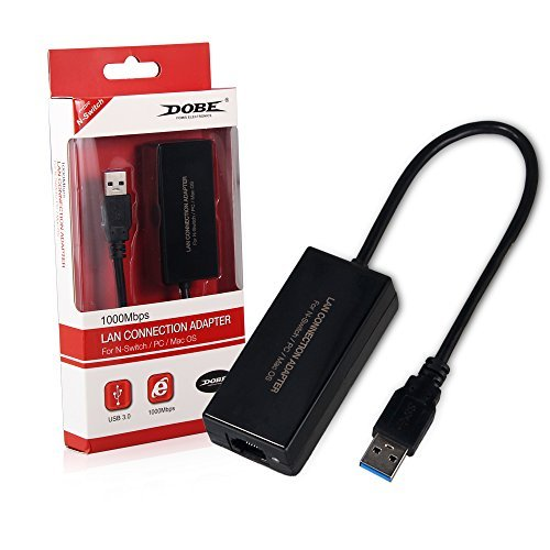 Network Adapter USB 3.0 to Ethernet RJ45 Lan Gigabit Adapter for 10/100/1000 Mbps Ethernet Supports Nintendo Switch by HD-Gaming