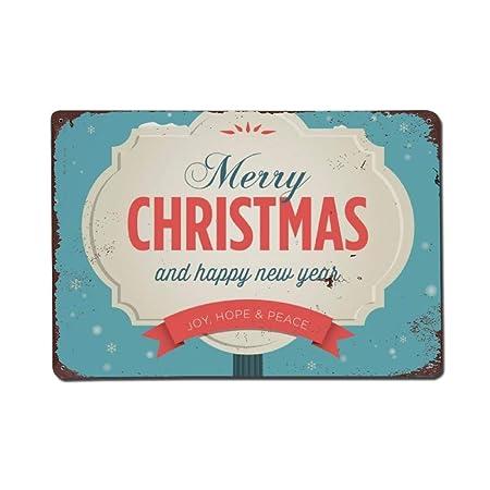 wendana - Cartel de Navidad con Texto en inglés Merry ...