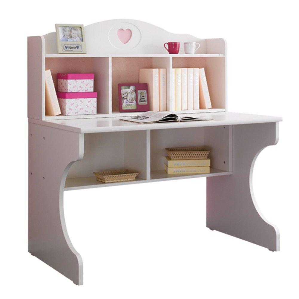 Yjbe Kinder Schreibtisch Bücherregal Jugendschreibtisch Prinzessin