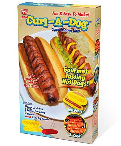 Curl-A-Dog BBQ Spiral Grilling Hot Dog Sausage Slicers (Dog Slicer compare prices)