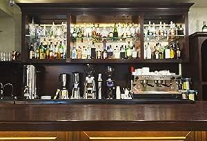 Leyiyi 7x5ft Bar Counter Backdrop Wine Beer Chandelier Wooden Stool Photography Background Bar Interior Decoration Portrait Photo Shooting Vinyl Wallpaper Studio Props