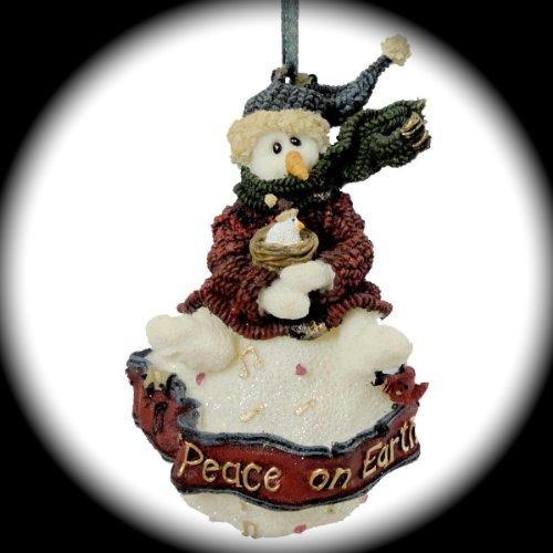 - Boyds Bears Resin ROBIN PEACE ON EARTH ORNAMENT Winter Snowman