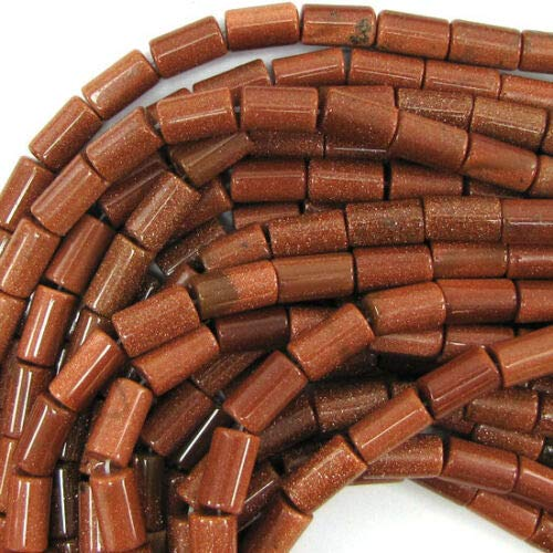 buyallstore 14mm Goldstone Tube Beads 15