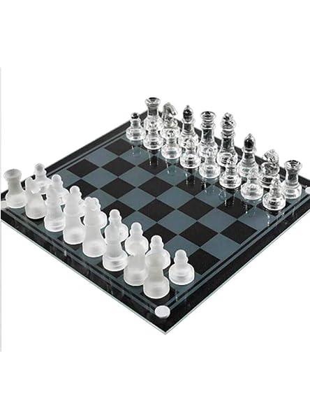 Mankvis Juego de ajedrez de Cristal, Juego de Estrategia de Rompecabezas para niños, decoración de Escritorio, 20 × 20 cm: Amazon.es: Hogar