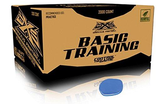 GI Sportz DXS Basic Training Paintballs Case of 2000 Rounds (Blue)
