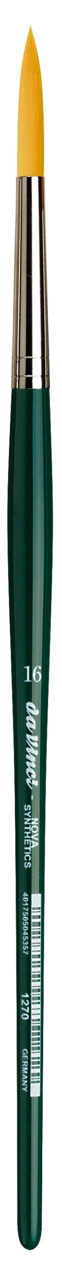da Vinci Nova Series 1270 Lettering/Liner Brush, Lettering/Liner Medium Pointed Synthetic, Size 16