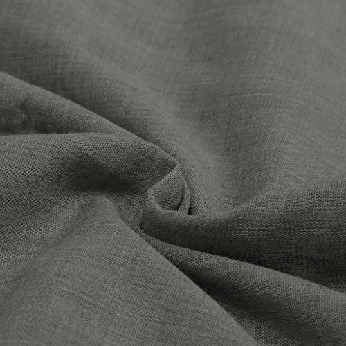 Courtes Retour Zipper Mini En Robe Boutonné Casual Produp Manches Lin Femmes Décoré Lâche Poche Gray twRqnHp