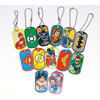 LOT OF 12 DC COMICS BACKPACK CLIPS 1 DOZEN BATMAN VS SUPERMAN WONDER WOMAN ROBIN