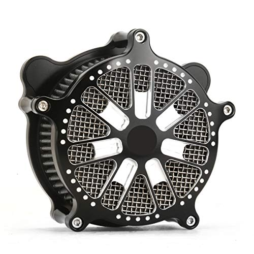 Deep cut air vents for Harley Softail 2018, air filters FLTRX FLHR FLHX FLHTCU air filters 17-18 BLACK: