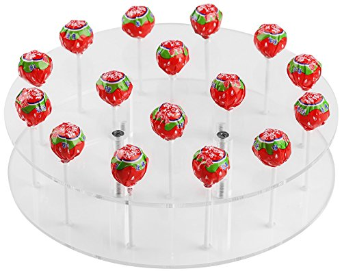 YestBuy Round Shaped Acrylic Cake Pop Stand 1 pc /Pack ()