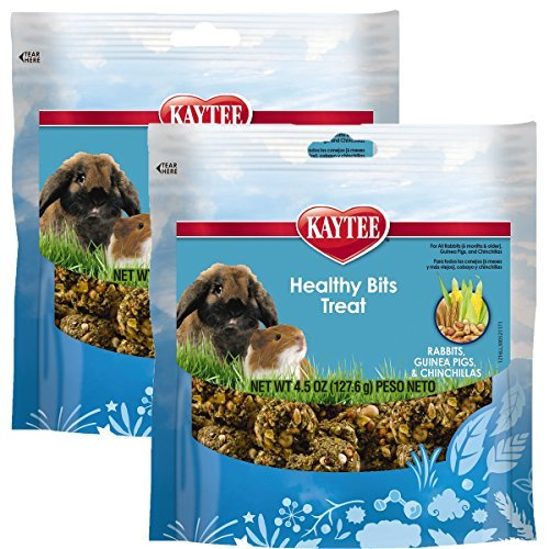 - Kaytee Forti-Diet Pro Health Healthy Bits Rabbit, Guinea Pig and Chinchilla Treat, 9 Ounce