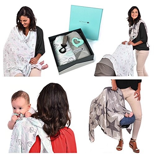Image of the Multi-use Swaddle Nursing Cover Blanket Set Perfect Baby Shower Gifts