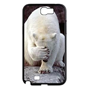JFLIFE Polar Bear Phone Case for samsung galaxy note2 Black Shell Phone [Pattern-1]
