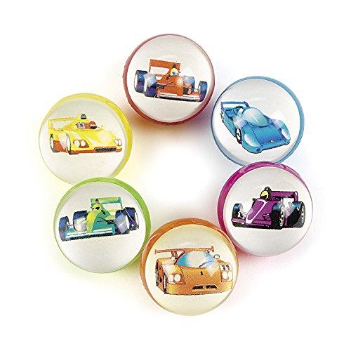 Price comparison product image Fun Express Race Car Bouncing Balls (12)