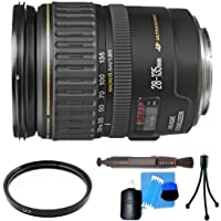 Canon EF 28-135mm f/3.5-5.6 IS USM Standard Zoom Lens + Lens Accessory Kit For Canon EOS Rebel T1i(500D), T2i(550D), T3, T3i(600D) DSLR Camera