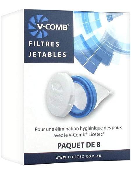 Licetec V-Comb - Filtros desechables (8 unidades): Amazon.es ...