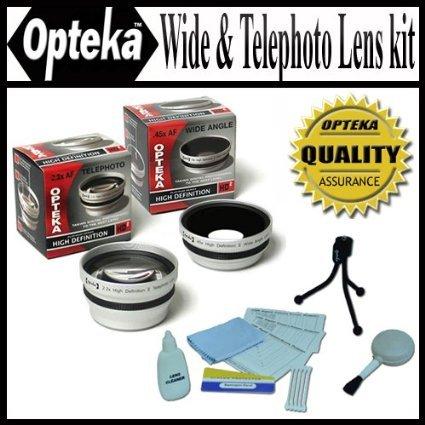 Opteka 0.45 X Wide Angle & 2.2 X望遠hd2 Proレンズセットfor Canon VIXIA hv30 , hg10 , hv20デジタルビデオカメラ- - - - - - -   B0017WDSE0