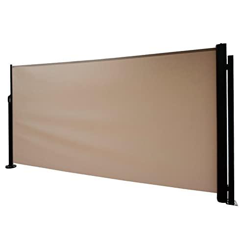 Abba Patio Retractable Folding Side Awning Screen Fence Privacy Divider  with Steel Pole, 5.2' - Wind Block: Amazon.com