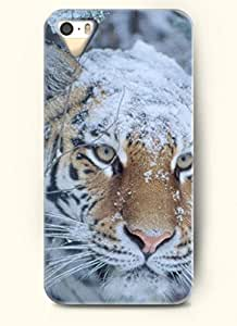OOFIT Phone Case Design with Tiger covered by the Snow for Apple iPhone 5 5s