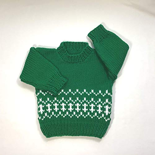 (6 to 12 months Baby knit Fair Isle sweater)