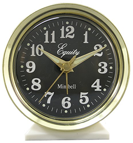 Equity by La Crosse 12020 Analog Key-Wound Bell Alarm Clock - Bell Key Wind Alarm Clock