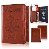 Passport Holder Case, ACdream Protective Premium PU Leather RFID Blocking Wallet Case for Passport, Brown