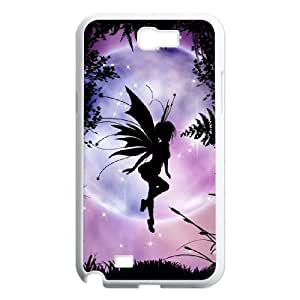 Diy Lovely Fairy Phone Case for samsung galaxy note 2 White Shell Phone JFLIFE(TM) [Pattern-1]