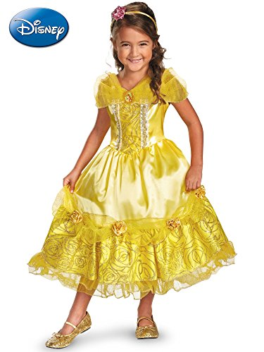 Disguise Disney's Beauty and The Beast Belle Sparkle Deluxe Girls Costume, 4-6X from Disguise