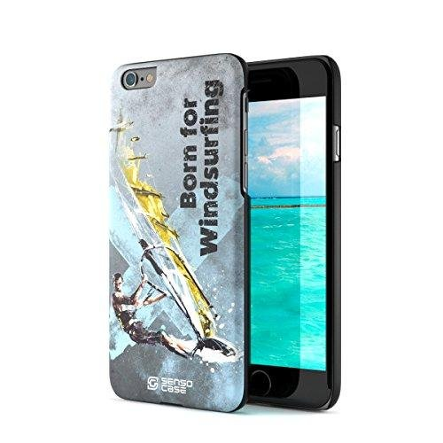 iPhone 6 Case, Born For Windsurfing. Sensocase Premium Extreme Sports Unique Designer Tough Shell Thin Cover. Luxury, Anti-Fingerprint, Anti-Scratch Stylish Slim Protective Apple Phone Case. by SENSOCASE