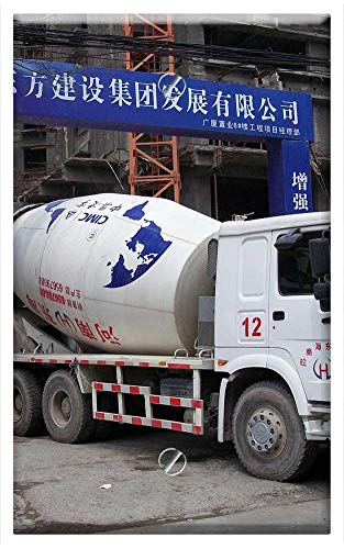 - Single-Gang Blank Wall Plate Cover - Truck Cement Concrete Mixer Construction Building