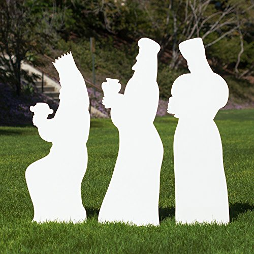 Outdoor Nativity Store Outdoor Nativity Set Add-on - Three Wisemen (Life-size, White)
