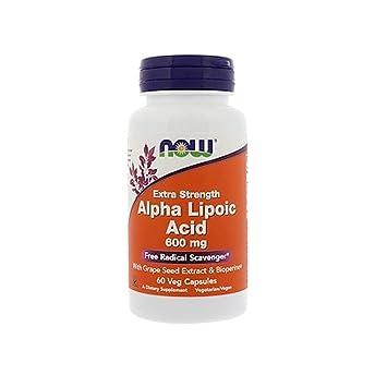 Now Foods - Ácido alfa lipoico 600 mg - 60 cápsulas: Amazon.es: Salud y cuidado personal