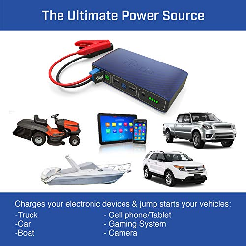 Portable Phone Charger Power Bank Starter -