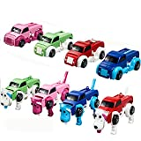Ghazzi Novelty Transformer Clockwork Car Dog Toy Developmental Intelligence Toy for Kids Puzzle Educational Learning Toy Growing Experiment Gift Toy Pretend Toy Toddlers Toy (Random Color)