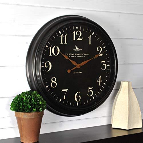 (FirsTime & Co. 99512 Belmont Black Wall Clock, 17.5