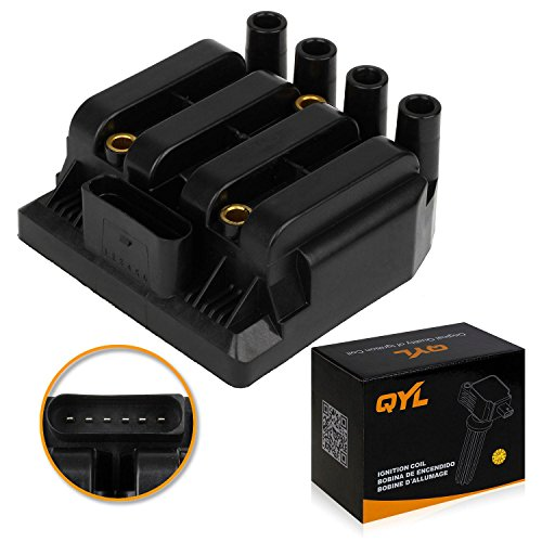 Ignition Coil Pack Replacement for Volkswagen Golf, Jetta, Beetle 2.0L Vehicles Replaces Part# 06A905097A 2001, 2002, 2003, 2004, 2005