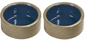 Kaytee Stoneware Hamster Bowl, 3-Inch (2 Pack)