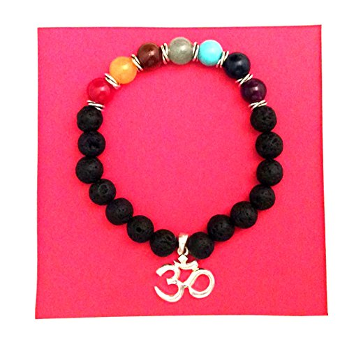 (Imagine If...Yoga Chakra Bracelet with Sterling Silver OHM and Spacers)