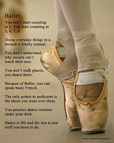 "Unframed Ballet Shoes Dancer 8"" x 10"" Sport Poster Print"