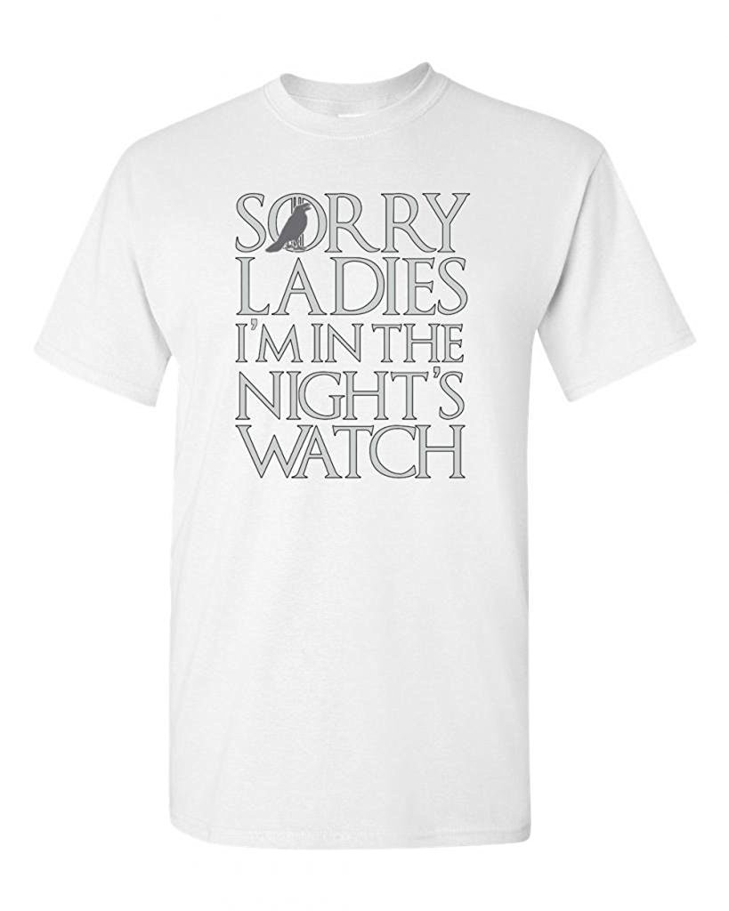 Yonabb Sorry I'm In The Night's Watch Fashion Adult S Shirts