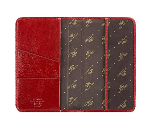 WITTCHEN Supporto carta, Rosso, Dimensione: 19x12 cm - Materiale: Pelle di grano - 21-5-016-3