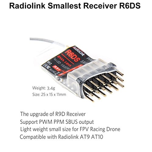 51MebKe74fL amazon com radiolink smallest receiver r6ds 6ch ppm pwm output 3s  at panicattacktreatment.co