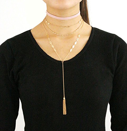 VK Accessories Multilayered Necklace Pedants