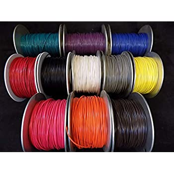22 GAUGE GPT WIRE PICK 8 COLORS 100 FT EA PRIMARY AWG STRANDED 100/% OFC COPPER