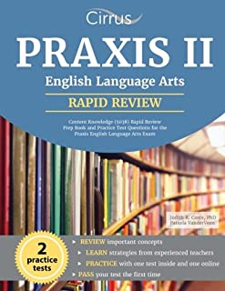 praxis ii english language arts content knowledge 5038 study rh amazon com Praxis Practice Test For Elementary Education Praxis Study Guide