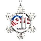 dokky J Personalised Christmas Tree Decoration 9/11 September 11th - Anniversary WTC Pins Tree Snowflake Ornament