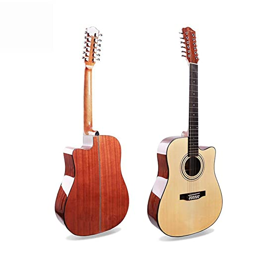 Hjyi Guitarra Acústica Guitarra Acústica de 12 Cuerdas Picea Caja ...