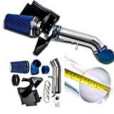 "4"" Perfit formance Cold Air Intake Kit With Filter fit for GMC Chevy Chevrolet 1999 2000 2001 2002 2003 2004 2005 2006 V8 4.8L/5.3L/6.0L(Blue)"